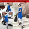 TE687LYBH Off shoulder casual v-neck loose long T-shirt