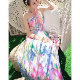 TE8602YYM Europe fashion bohemia shivering beach maxi dress