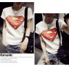 TE9017ALS Summer Korean style superman rabbit print slim T-shirt