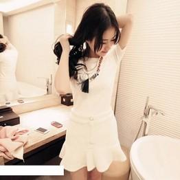 TE880CA Korean fashion slim joker short sleeve T-shirt