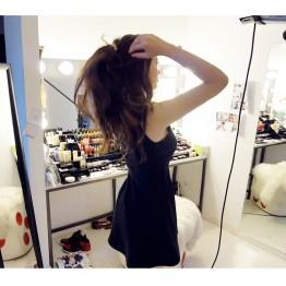 TE9836MSJ Europe style sleeveless empire waist slim dress