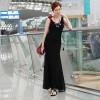 TE9838MSJ Slim casual slim tight hip maxi vest dress