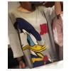 TEK160XRXM Loose cartoon and letters print half sleeve casual T-shirt