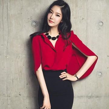 TE6013YWM Korean fashion cloak blouse