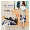 TE7833XH Korean fashion lace slim tops with print skirt