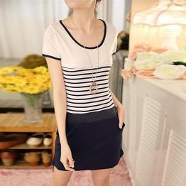 TE6533HX Korean fashion stripes casual dress