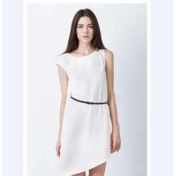 TE1103BNYR Europe fashion chiffon loose asymmetry dress