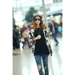 TE1538RHDM Korean Fashion Loose Plus Size Batwing T-shirt
