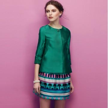 TE2525HY Simple fashion temperament slim coat with skirt