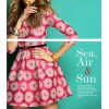 TE2586HY Europe fashion three quarter sleeve embroidery a-line dress rose