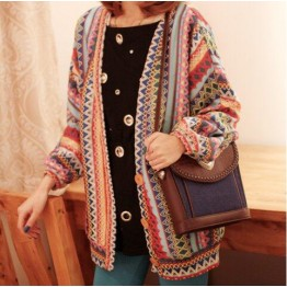 TE3076MGR Hot Sale Colorful Stripes Sweater