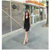 TE019SDHS Summer new style pure color model irregular sleeveless dress