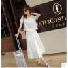 TE0231 New style beads tops with long skirt two pieces