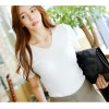 TE034SDHS Korean fashion sexy slim v-neck short sleeve knitting tops