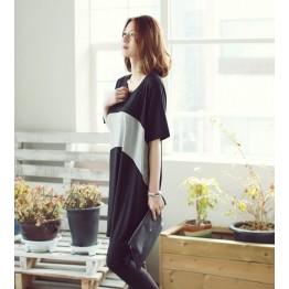 TE1251 Korean fashion loose batwing long t-shirt