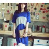 TE1251 Korean fashion loose batwing long t-shirt