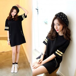TE1647MZY Korean fashion loose half sleeve T-shirt dress