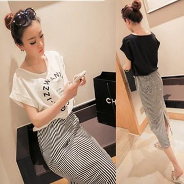 TE1652MZY Korean fashion casual preppy style batwing sleeve dress