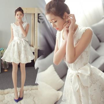 TE815SGYY Korean fashion lace organza princess sweet dress