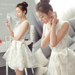 TE815SGYY Korean fashion lace organza princess sweet dress