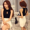 TE376SDHS Summer new style hollow out sexy backless sleeveless tops