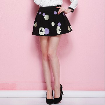 TE5813NS Rococo fashion joker dot mini skirt