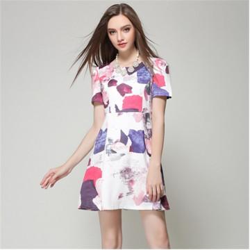 TE5834NS Europe fashion print one piece dress