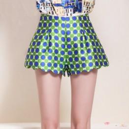 TE5838NS Summer slim casual dot wide leg shorts