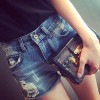 TE6231ZC European street fashion roll off joker denim shorts