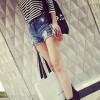 TE6231ZC European street fashion roll off joker denim shorts