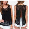 TE6250CL Europe fashion crochet lace vest tops