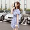 TE6333DLL Korean fashion national pope style vintage short sleeve dress