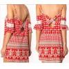 TE6796YGZ Europe fashion off shoulder print elegant dress