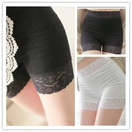 TE8003QMZ Lace splicing seamless safety pants short leggings