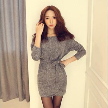 TE8056YP Winter fashion slim batwing sleeve dress