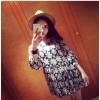 TE8073 Flowers print empire waist dress