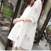 TE6129GJFS Korean fashion fresh coloured ear of rice embroidery loose dress