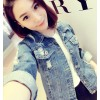 TE813ZC New style holes joker washing denim coat