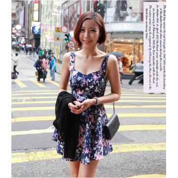 TE8607 Bohemia style shivering empire waist beach dress