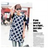 TE8609 Digital print splicing large size long T-shirt