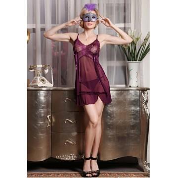 TE8674KL Lace splicing transparent gauze sexy lingerie