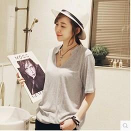 TE8681XYZ Summer joker large size V-neck T-shirt