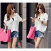 TE8761 Comfortable cotton splicing chiffon blouse