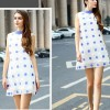 TE9022MH Summer new style dot sleeveless A-line dress