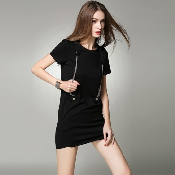 TE9059MH Europe fashion suspender ornament casual one piece dress