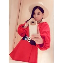 TE9142YBF Korean fashion three quarter sleeve loose dress