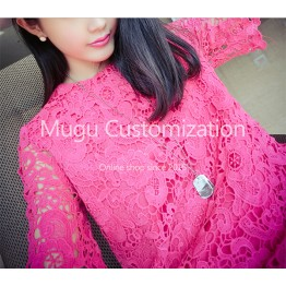 TE9195 Fashion temperament lace dress