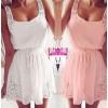 TE9220 Europe Fashion lacing waist sleeveless dress