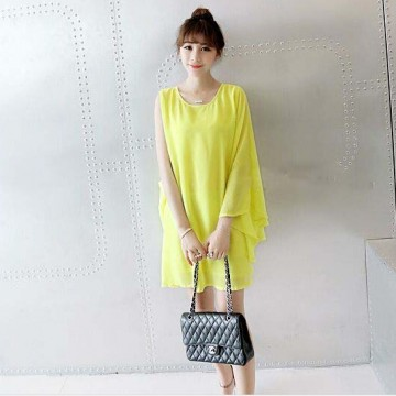 TE9275YBF Personality overhang elegant chiffon dress