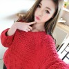 TE9322YJZJ Peppy style hollow out sweet pullover sweater
